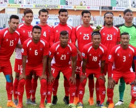 Members of National Football team arrive in Kathmandu for indoor training