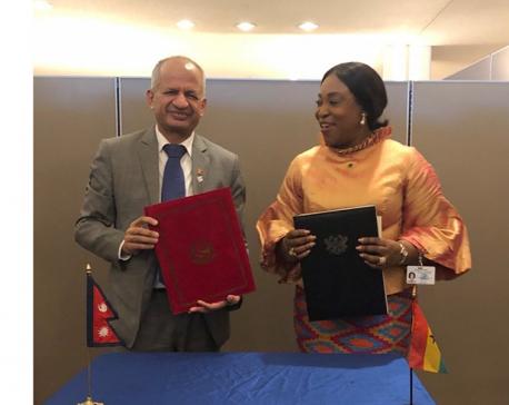 Nepal-Ghana establish diplomatic relations