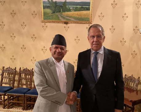 Foreign Ministers of Nepal and Russia meet in Moscow