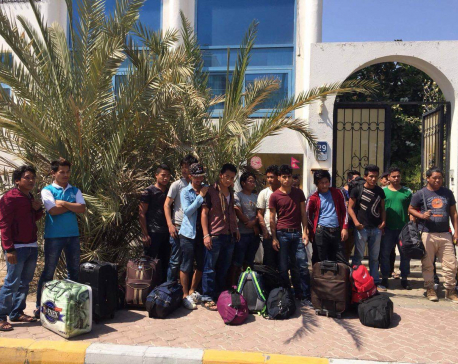 Stranded Nepali workers reach embassy in UAE