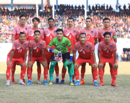 Nepal grabs gold in finals of men's football under 13th South Asian Games