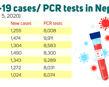 9,162 COVID-19 cases diagnosed this week, 8,313 PCR tests on average carried out a day