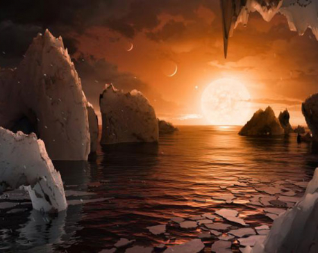 Astronomers find nearby solar system with seven Earth-sized planets