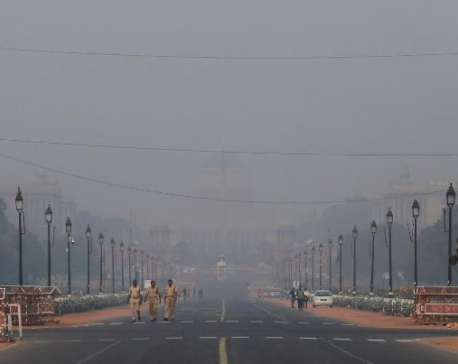 Pollution levels in India's capital hit the worst this year