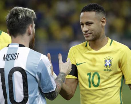 Brazil's Neymar takes honors, Messi returns for Argentina