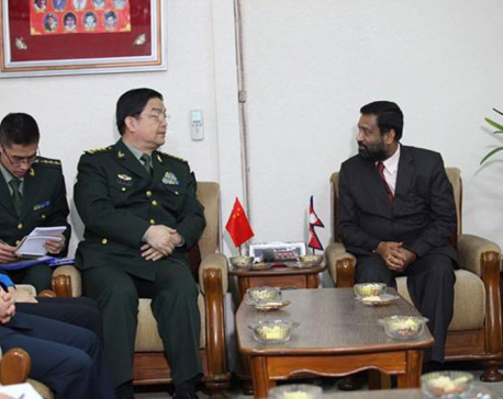 Visiting Chinese Defense Minister Wanquan calls on DPM Nidhi