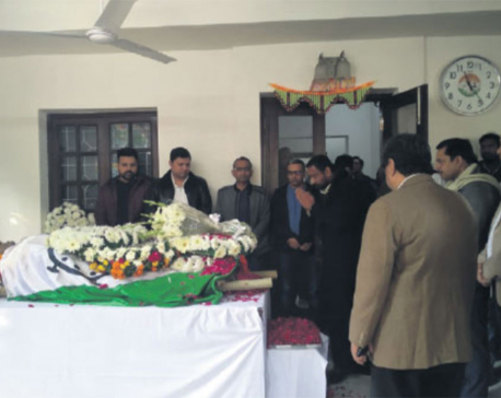 Nidhi pays homage to late Indian socialist leader Tripathi