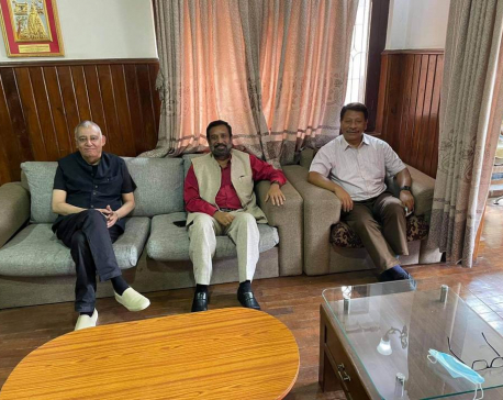 NC leaders Nidhi, Singh and Dr Koirala hold lunch meeting as they vie for party presidency