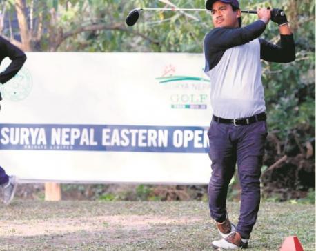 Niraj Tamang leads after first round