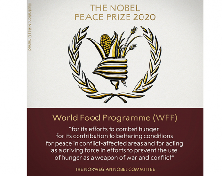 World Food Program bags Nobel Peace Prize