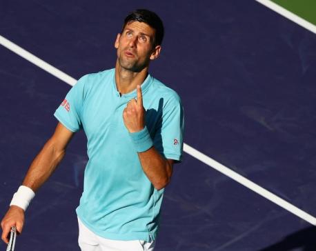 Returning Djokovic still managing elbow injury