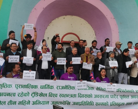 'Occupy Tundhikhel' continues for second Saturday