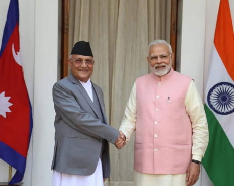 Oli 'touches on border issue' during Modi's New Year call