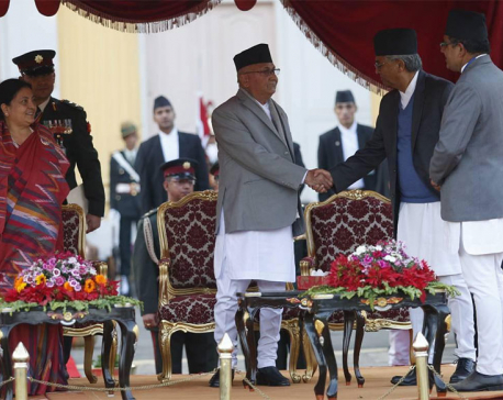 In pictures: Oli sworn in as new Prime Minister of Nepal