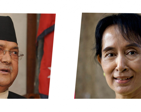PM Oli congratulates Myanmar State Counsellor Suu Kyi on her party's landslide victory in recent general elections