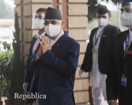 Vote on PM Oli's trust motion to begin shortly, lawmakers reach parliament building (photo feature)