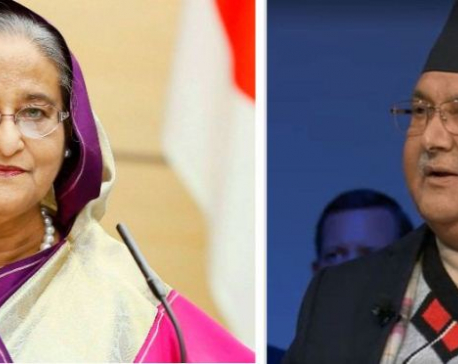 PM Oli requests Bangladeshi counterpart Hasina to provide 50,000 tons of urea fertilizer