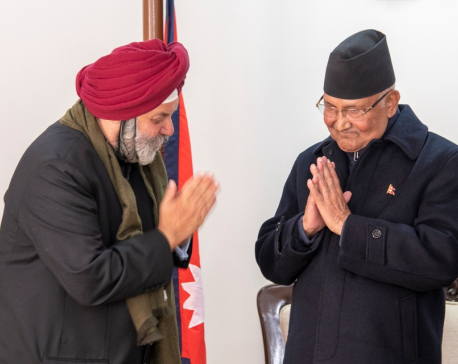 Outgoing Indian Ambassador Puri calls on President, Prime Minister