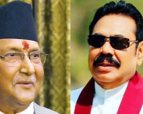 PM Oli congratulates newly-appointed Sri Lankan PM Rajapaksa