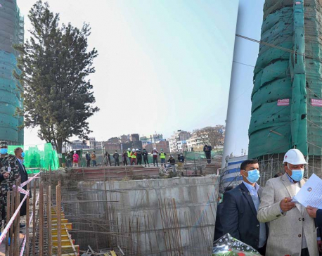 Construction of Dharahara expected to be completed by mid-March