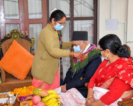 Prime Minister Oli receives bhaitika