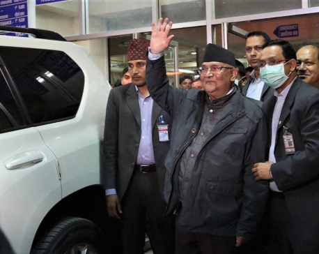 PM Oli's health check-up underway at Grande Hospital