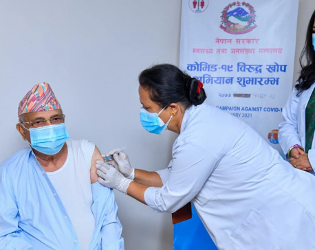 Second phase of COVID-19 vaccination begins as PM Oli gets coronavirus jab