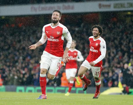 'Maximum luck': Giroud scores 'scorpion' in Arsenal victory