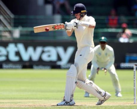 Late partnership steers England to 224-4