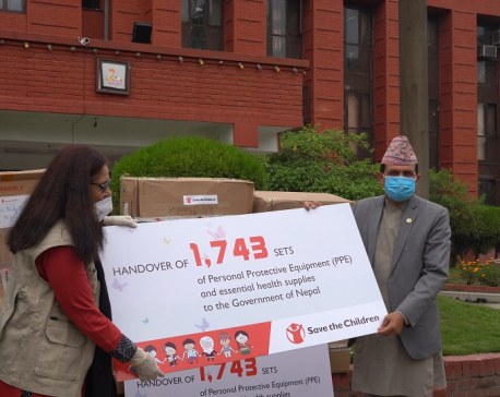Save the Children hands over PPEs and essentials health commodities to Nepal govt