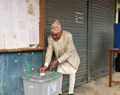 Centenarians cast their votes