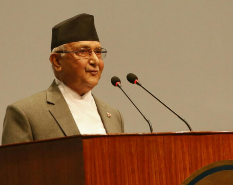Oli threatens to revoke all decisions of caretaker govt
