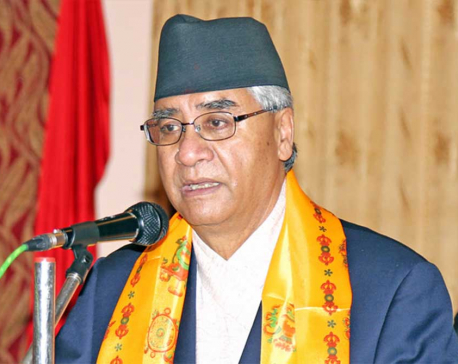 PM Deuba urges voters to vote without fear