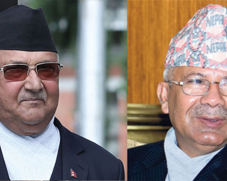 Oli-Nepal in one on one meeting at Singha Durbar