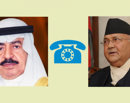 Amid coronavirus outbreak, PM Oli holds telephone conversation with his Bahrain counterpart on safety of Nepali migrant workers