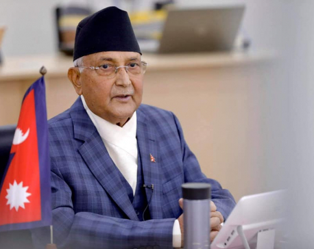 Prime Minister Oli to address nation at 3 pm today