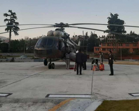 Modern helipad constructed on premises of PM's Official Residence in Baluwatar