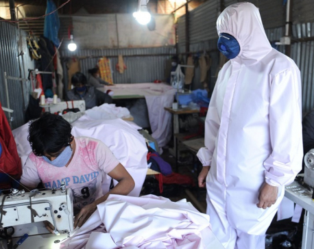 Amid shortage of PPE, National Innovation Centre begins its manufacturing in Bhaktapur