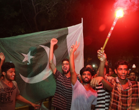 Fans in Pakistan celebrate memorable victory over India