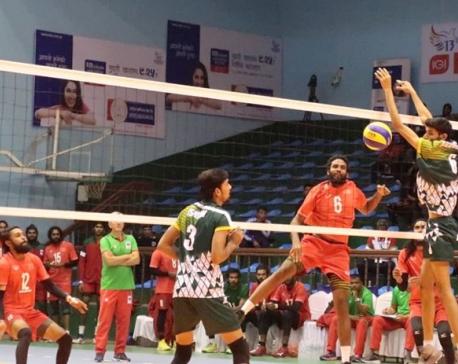 Pakistan thrashes Maldives in Men's Volleyball