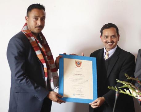 Paras Khadka appointed goodwill ambassador of NVN
