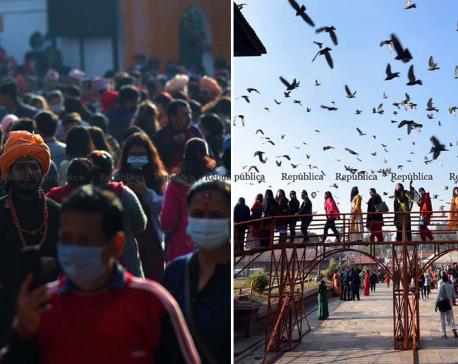 250,000 plus pilgrims pay homage to Pashupatinath so far