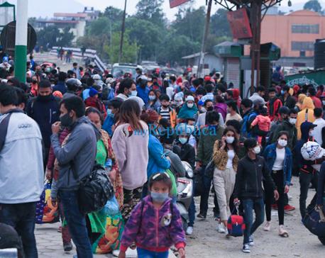 Photos: Hard-hit by lockdown, thousands leave Kathmandu