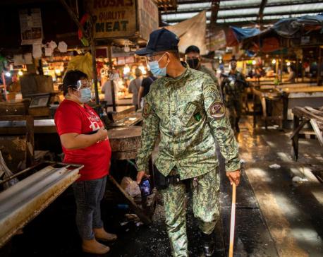 Philippine reports 3,420 new coronavirus cases, 65 deaths