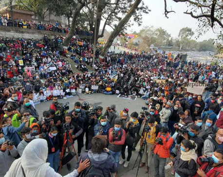 PHOTOS: Civil Society stages a massive women march against violence against women in Kathmandu