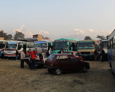 Tourist bus park in Pokhara in final stages