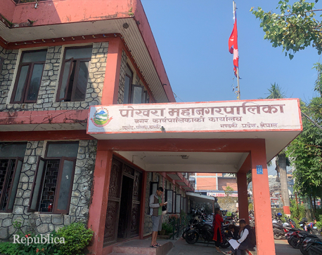 Pokhara metropolis suspends all but essential services after an employee contracts COVID-19