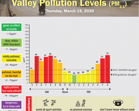 Valley Pollution Index for March 19, 2020