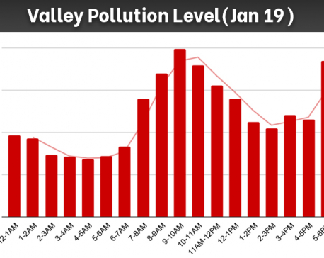 Air pollution level drops to 68 µg/m3  between 4 and 5AM with highest reading of 198 µg/m3  between 9 and 10AM