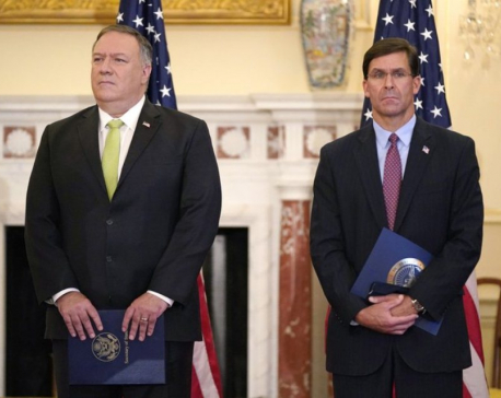 Pompeo, Esper to push Trump's anti-China message in India